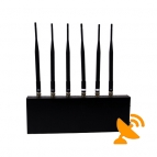 Cell Phone Signal Blocker + Wifi Jammer with Six Antenna