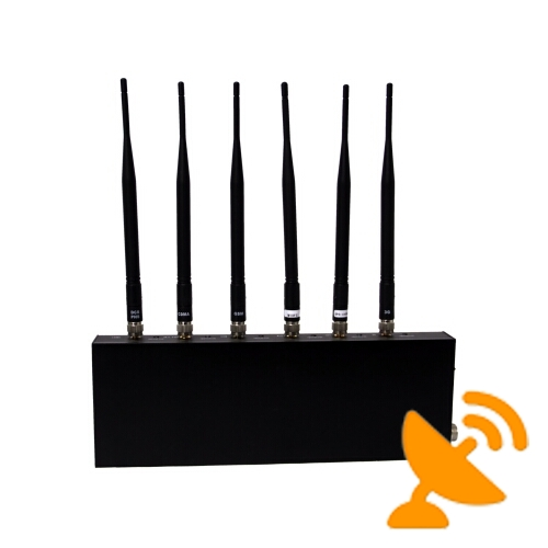 Cell Phone Signal Blocker + Wifi Jammer with Six Antenna - Click Image to Close