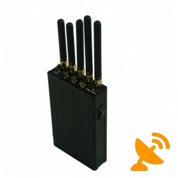 Five Antenna Portable Cell Phone + GPS + Wifi Signal Blocker