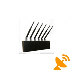 Six Antenna Desktop Cell Phone + GPS + Wifi Jammer
