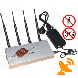 4 Antenna 2G 3G Mobile Phone Jammer with Remote Control