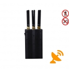 6 Antennas Handheld Multifunctional WIFI GPS 3G Cell Phone Signal Jammer