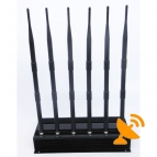 Six Antenna 3G Cell Phone + Wifi + UHF + VHF Signal Jammer