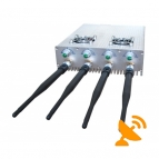 Four Antenna Adjustable + Remote Control 3G Cell Phone Jammer & WIFI Jammer