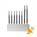 Powerful Eight Antenna High Power Jammer Cell Phone & Wifi & GPS & VHF/UHF Jammer