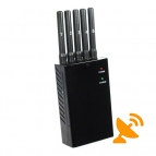 Five Antenna Portable Mobile Phone Jammer,GPS Jammer,Wifi Jammer