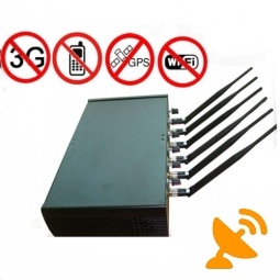 Six Powerful Antenna High Power Adjustable Cellphone Wifi GPS Jammer
