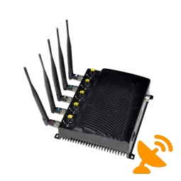 Five Antenna Wall Mounted Adjustable Cell Phone & Wifi & GPS Jammer